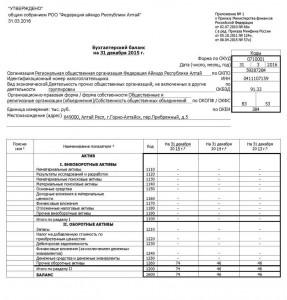 Бухгалтерская (финансовая) отчетность фаил1